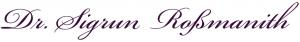 Dr. Sigrun Roßmanith - Logo